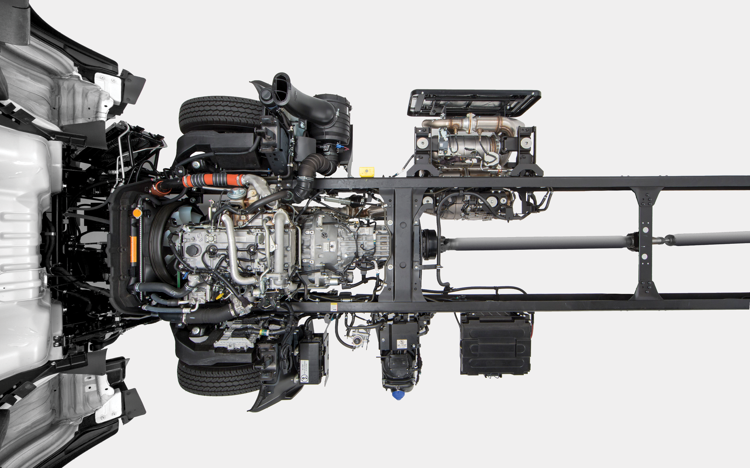 Birds Eye View of Chassis