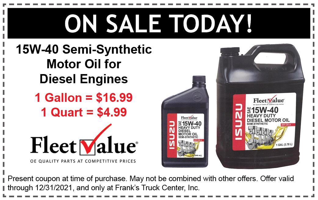 Isuzu Motor Oil special